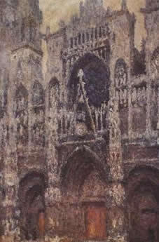 Rouen Cathedral, The Portal, Gray Weather (1892)