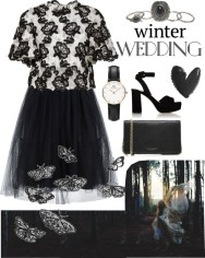 true romance: winter wedding - black and white