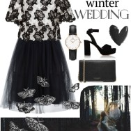 true romance: winter wedding - black and white
