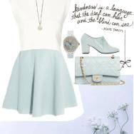 pastel blue chiffon