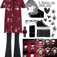 fall printed dress
