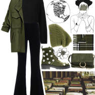 army green in the autumn