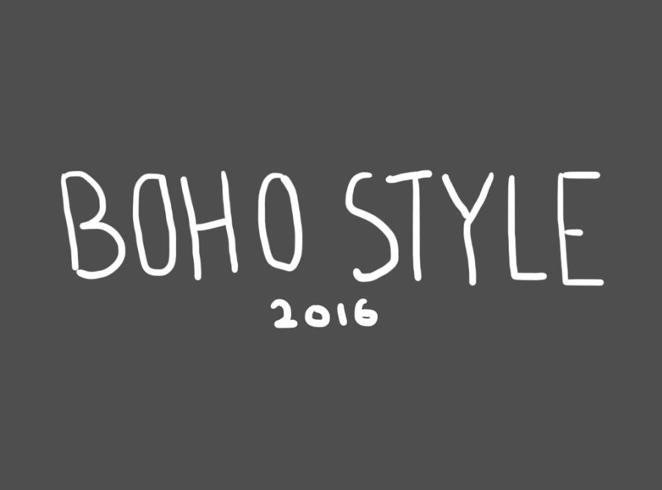 boho style 2016