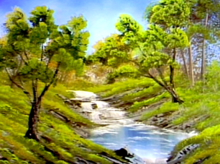 bubbling stream