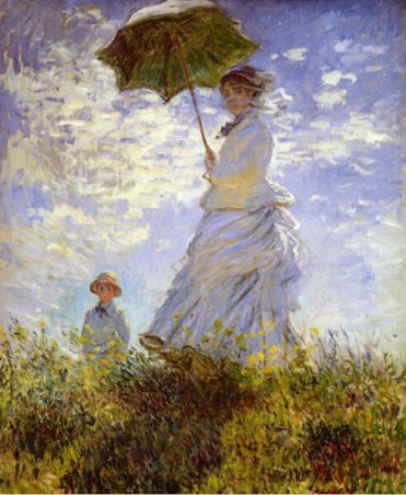reproduction of woman with parasol