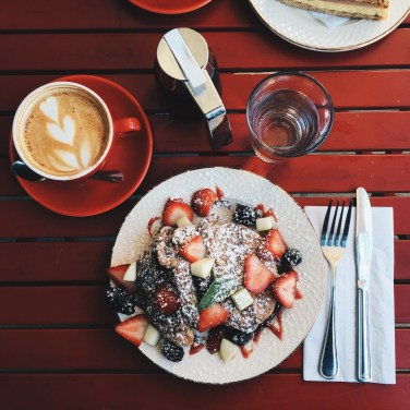 KAVA Cafe - french toast & cappuccino