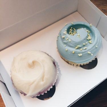 Magnolia Bakery - Red Velvet Cupcake & Vanilla Cupcake