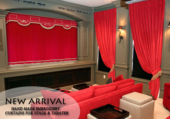 Velvet Curtains Home TheaterStage Curtains Panels And