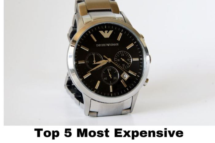 Top 5 Most Expensive Watches in the World