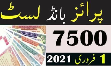Prize Bond List 7500 Draw 1 February 2021 - Complete list Online Check