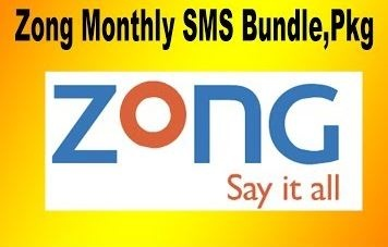 Zong SMS PKG Daily Weekly Monthly – Prepaid 3G 4G