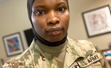 The South African Defence Force agreed to amend its policy this week and allow all Muslim women to cover their heads while on duty [Marco Longari/AFP]