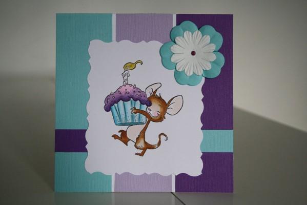 Carte d'anniversaire – Petite souris