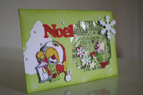 Une Shaker Card pour Noël