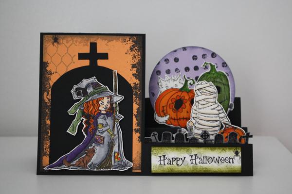 Carte pour Halloween a poser