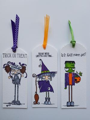 Trois petits monstres d'Halloween