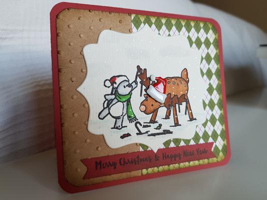 Un lapin et un renne pour Noel