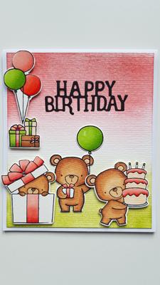 Des oursons pour mon anniversaire
