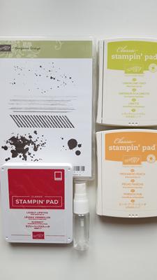 Tutoriel pour créer un fond de page avec des tampons et de l'eau