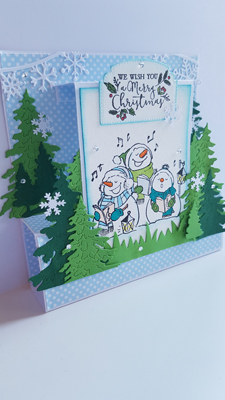 Tuto carte bonhomme de neige