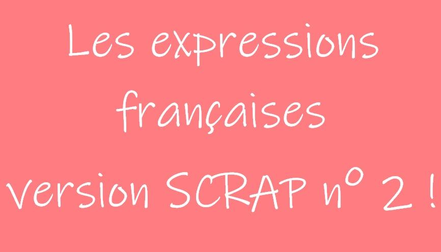 Les expressions françaises remises à jour version Scrap n°2 !