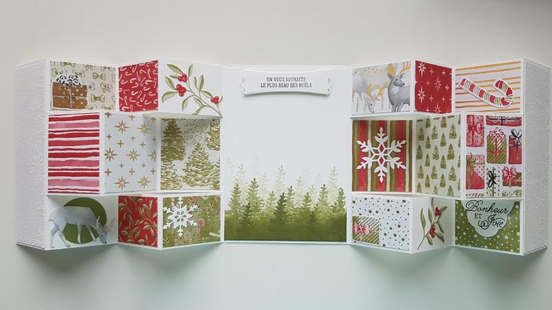 Tutoriel : Carte à plusieurs volets version Noël