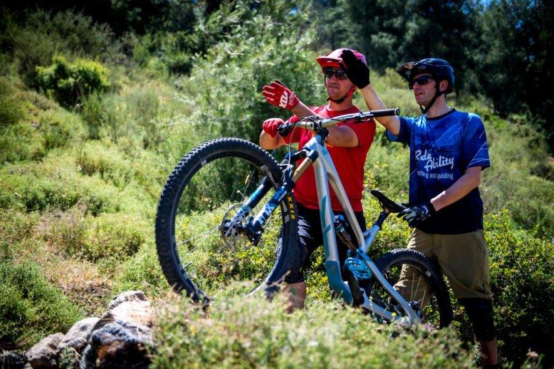 שיעור פרטי לטכניקת רכיבה על אופני הרים