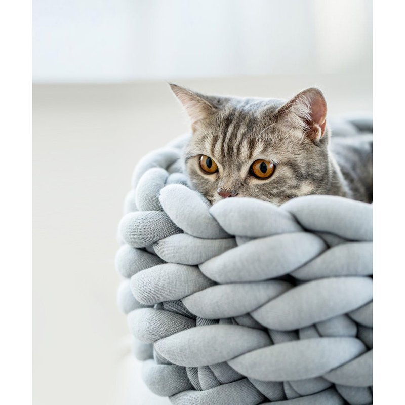 1Pc Comfortable Braided Cat Bed