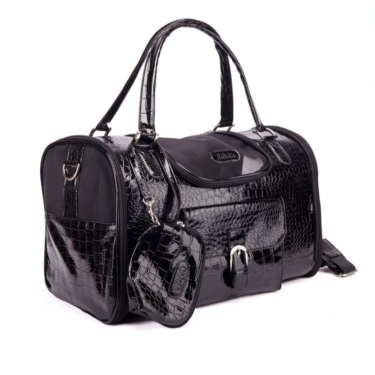 1Pc Quality PU Leather Pet Carrier Bag