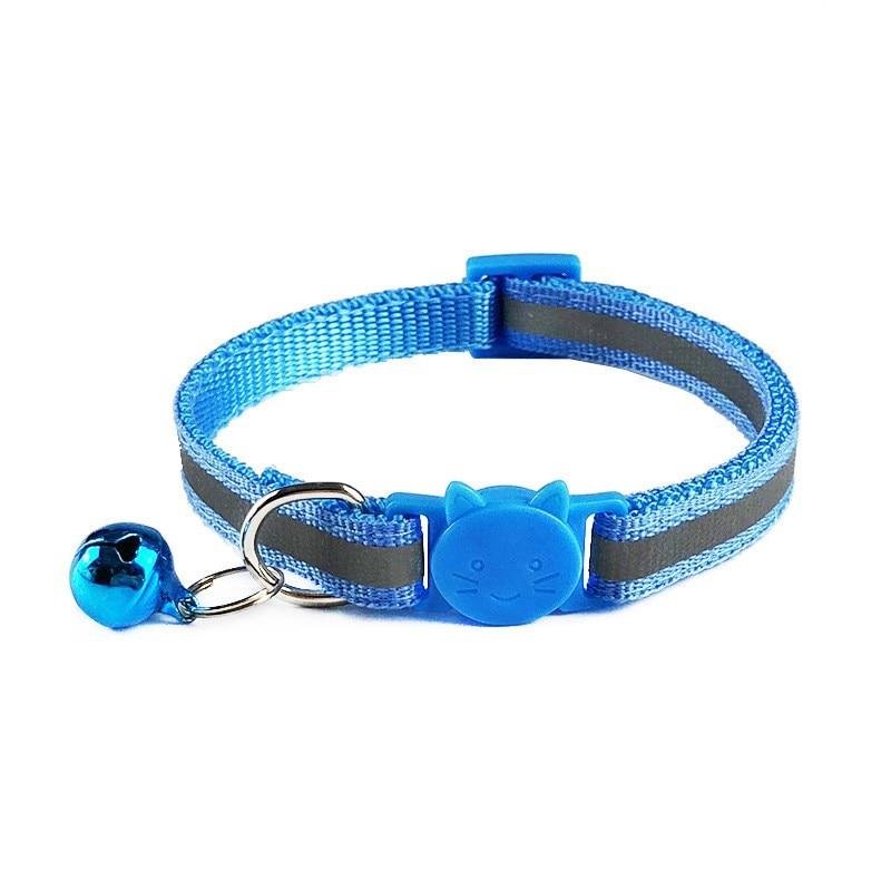 1Pc Reflective Breakaway Cat Collar with Bell