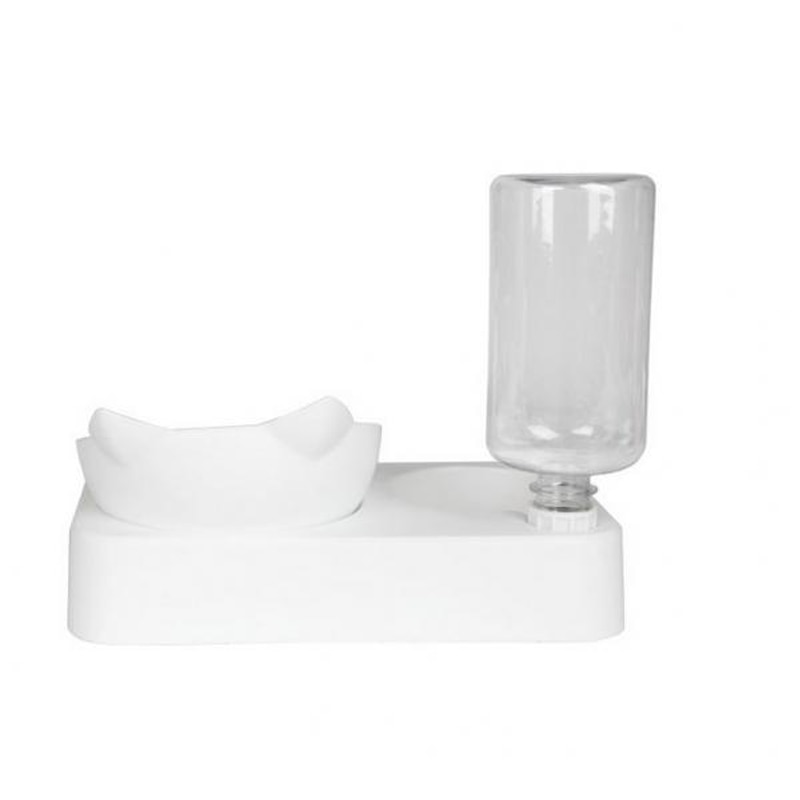 1Pc Quality Cat Bowl With Water Dispenser