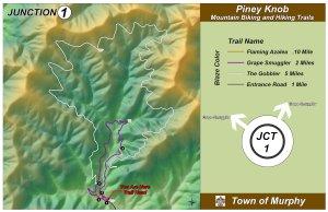 Piney Knob Trail Map - Murphy, NC