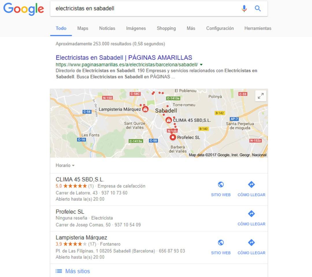 Imagen Seo Local en Metacom Sabadell