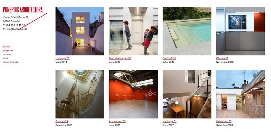 Pantallazo página web Pons i Puig