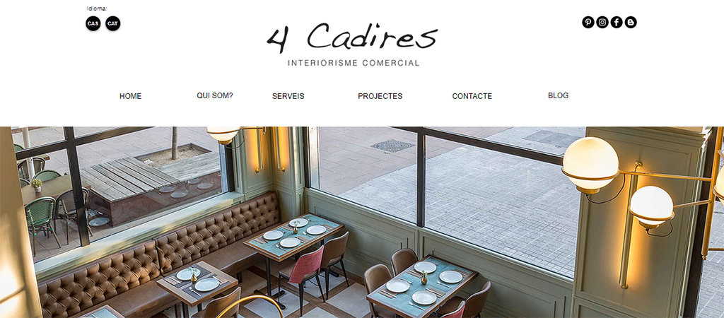 Captura de la web de 4 Cadires