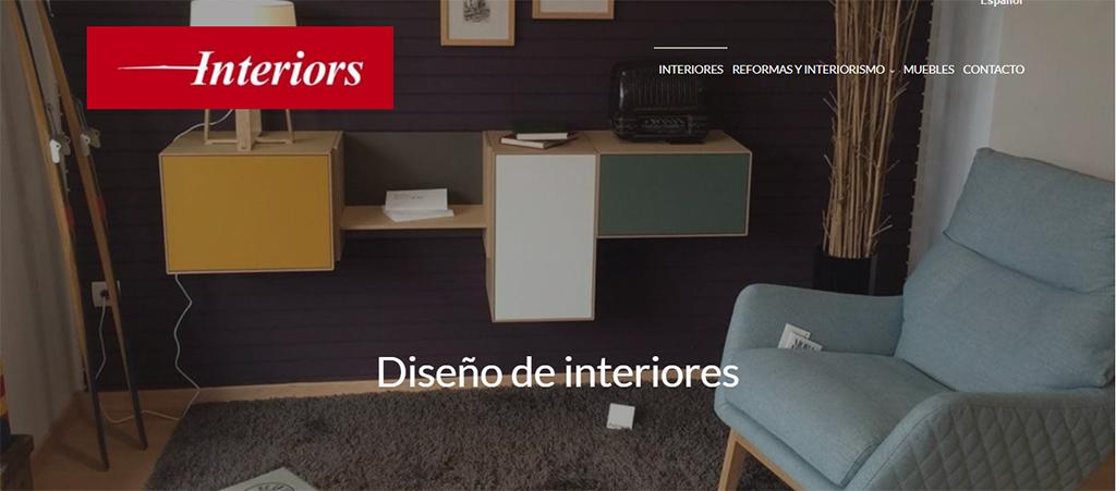 Captura de la web de Interiors Casquet