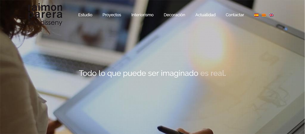 Captura de la web de Raimon Parera Arc Disseny