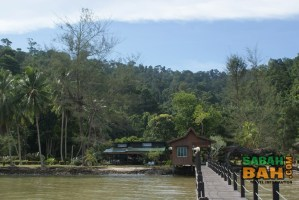 Downbelow's PADI 5 Star IDC Dive Centre nestled on Gaya island's virgin rainforest