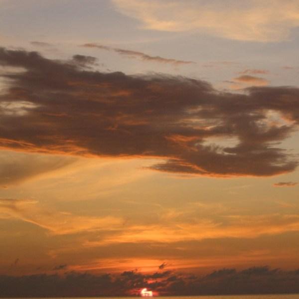 Golden sunsets as seen from First Beach Cafe