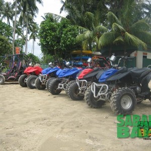 Quad bikes and a nice jungle course at KK Adventure Park