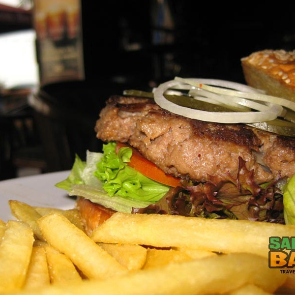 One of the best burgers in Kota Kinabalu at Shamrock Irish Bar