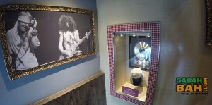 Slash's hat at Hard Rock Cafe Kota Kinabalu, Oceanus Mall, Sabah, Borneo