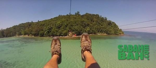 Kota Kinabalu Coral Flyer Zipline between Islands