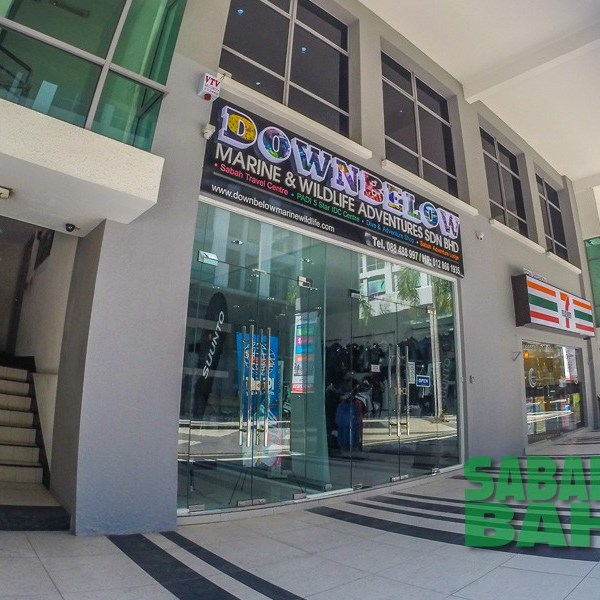 Downbelow Dive Shop in Kota Kinabalu, Sabah, Borneo