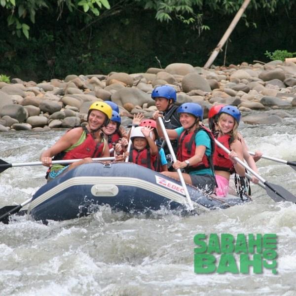 Book Kiulu River White Water Rafting through SabahBah.com