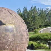 The big globe at The Tip of Borneo - Book online at SabahBah.com