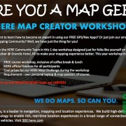 HERE Map Creator Workshop Invite - Image provided by HERE Malaysia