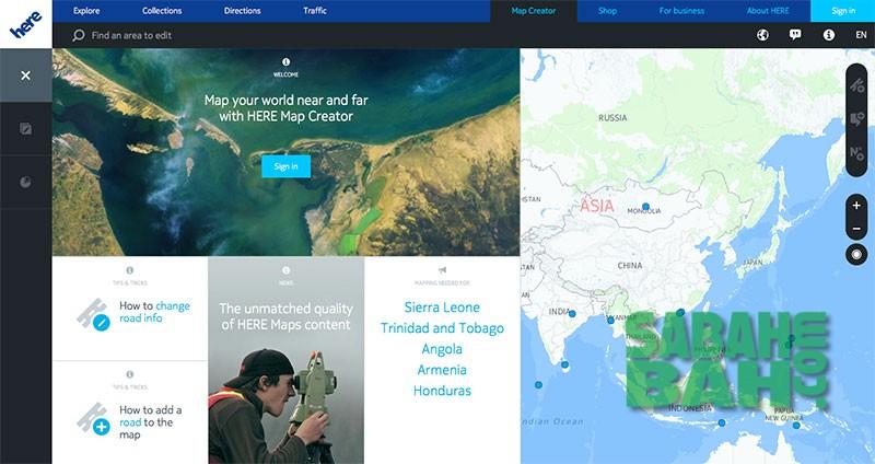 HERE Map Creator online