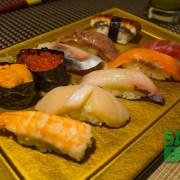 Sushi Tray ft. Kobe Wagu Beef at Sakagura Japanese Restaurant in Oceanus Mall, Kota Kinabalu
