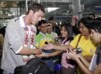 Марат Сафин в аэропорту Банкока